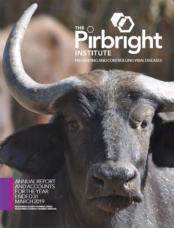 Pirbright Annual Report 2019 cover