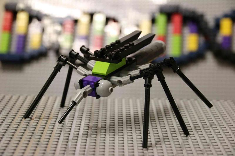 Modified mosquitoes made of Lego in the Bug Busters kit