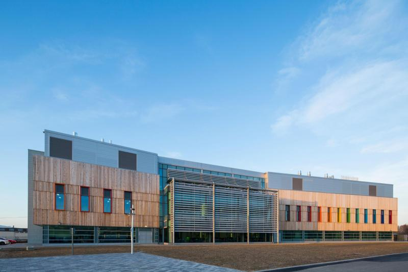Exterior of The Pirbright Institute, day time, blue skies