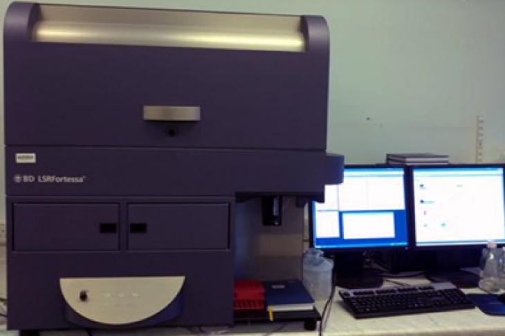 Flow cytometry equipment in laboratory