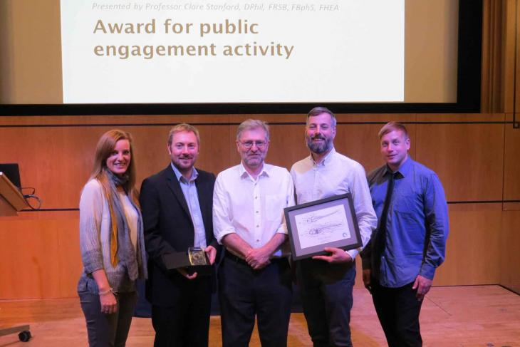 Pirbright team with UAR public engagement award