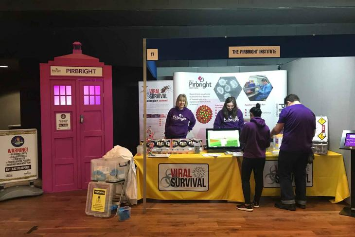 innovate guildford stand viral survival dr zoo's science lab